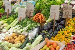 Legumes frescos em um mercado Imagens de Stock Royalty Free