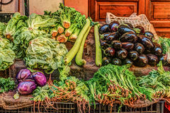 Legumes frescos em um mercado em Palermo Fotos de Stock