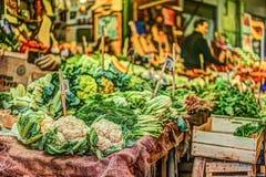 Legumes frescos em um mercado em Palermo Fotografia de Stock Royalty Free