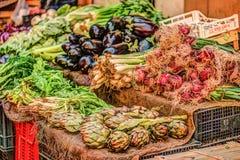 Legumes frescos em um mercado em Palermo Imagem de Stock