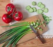 Legumes frescos na tabela Fotos de Stock Royalty Free