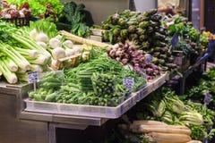 Legumes frescos no mercado de rua na Bolonha Fotos de Stock Royalty Free