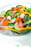 Legumes frescos no navio elétrico do alimento Fotografia de Stock Royalty Free