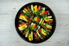 Legumes frescos para o ratatouille Foto de Stock