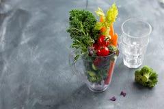 Legumes frescos para preparar o batido Fotos de Stock