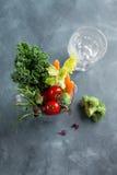 Legumes frescos para preparar o batido Fotografia de Stock Royalty Free