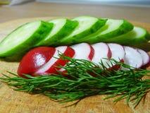 Legumes frescos para a salada Imagem de Stock Royalty Free