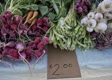 Legumes frescos para a venda Fotos de Stock Royalty Free