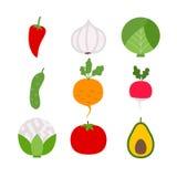 Legumes frescos sobre o branco Foto de Stock