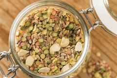 Legumes in glass jar Royalty Free Stock Photos