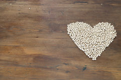 Legumes and heart Stock Images