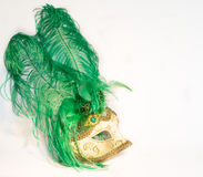 Mask of the Venice Carnival on a white background Stock Images