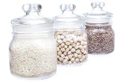 Legumes jar Royalty Free Stock Photography