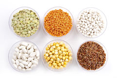 Legumes and rice stock image