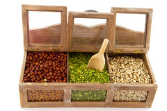 Legumes in shop shelf Royalty Free Stock Photo