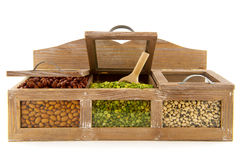 Legumes in shop shelf Stock Photography