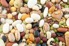 Legumes soup. Beautiful macro of colored italian pulse soup Royalty Free Stock Photography