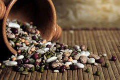Legumes still life. Still life of dried legumes and cereals Royalty Free Stock Image
