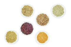 Legumes. View of various kinds legumes on white background Royalty Free Stock Photography