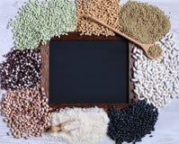 Legumes z blackboard Fotografia Royalty Free