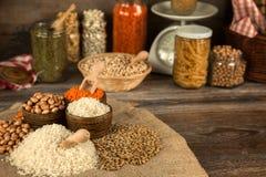 Legumi Dlicious ed alimento naturale sano della miscela Immagini Stock Libere da Diritti