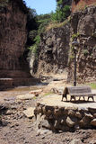 Legvtakhevi (Figs) canyon with waterfall is in the center of old Tbilisi near the sulfur baths. Royalty Free Stock Images