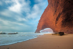 Legzira海滩,摩洛哥 库存照片