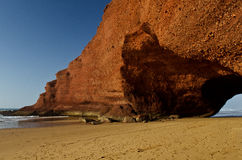 LEGZIRA BEACH. ARCH IN LEGZIRA BEACH, MOROCCO Royalty Free Stock Photography