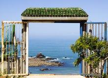 Legzira beach, Morocco. stock photo