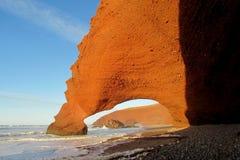 Legzira beach stone arch Royalty Free Stock Image