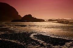 Legzira lapida le luci del tramonto di arché, l'Oceano Atlantico, Marocco, Af Fotografia Stock Libera da Diritti