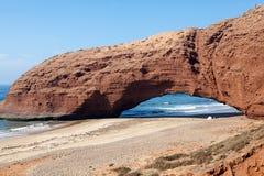 Legzira plażowy Maroko Zdjęcie Stock