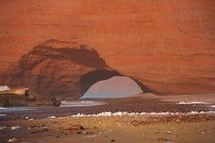 Legzira stone arches, Atlantic Ocean, Morocco, Africa Stock Photos
