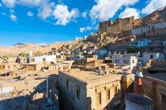 Leh宫殿都市风景视图安置H 库存图片