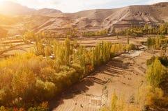 Leh村庄风景在北印度 图库摄影
