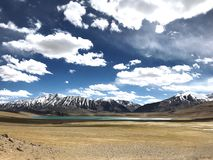 Leh的Ladak Kya雀鳝湖 免版税库存照片