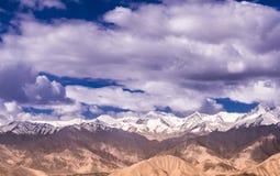 Leh,拉达克风景,在印度北部 图库摄影