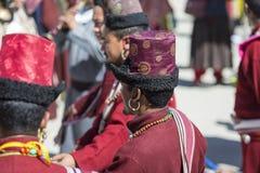 LEH, ÍNDIA - 20 DE SETEMBRO DE 2017: Artistas não identificados em Ladakhi Foto de Stock