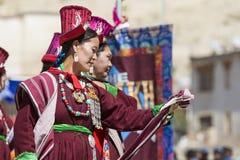 LEH, ΙΝΔΊΑ - 20 ΣΕΠΤΕΜΒΡΊΟΥ 2017: Μη αναγνωρισμένοι καλλιτέχνες σε Ladakhi Στοκ εικόνες με δικαίωμα ελεύθερης χρήσης