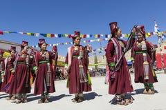 LEH, ΙΝΔΊΑ - 20 ΣΕΠΤΕΜΒΡΊΟΥ 2017: Μη αναγνωρισμένοι καλλιτέχνες σε Ladakhi Στοκ Εικόνα