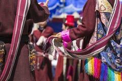 LEH, ΙΝΔΊΑ - 20 ΣΕΠΤΕΜΒΡΊΟΥ 2017: Μη αναγνωρισμένοι καλλιτέχνες σε Ladakhi Στοκ Φωτογραφία