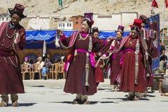 LEH, ΙΝΔΊΑ - 20 ΣΕΠΤΕΜΒΡΊΟΥ 2017: Μη αναγνωρισμένοι καλλιτέχνες σε Ladakhi Στοκ εικόνα με δικαίωμα ελεύθερης χρήσης