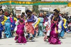 LEH, ИНДИЯ - 20-ОЕ СЕНТЯБРЯ 2017: Неопознанные художники в Ladakhi Стоковое фото RF
