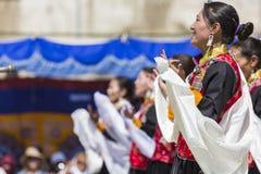 LEH, ИНДИЯ - 20-ОЕ СЕНТЯБРЯ 2017: Неопознанные художники в Ladakhi Стоковые Фотографии RF