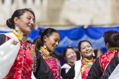 LEH, ИНДИЯ - 20-ОЕ СЕНТЯБРЯ 2017: Неопознанные художники в Ladakhi Стоковые Фото