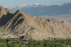 Leh. The city of Leh in the Indian Himalayas Royalty Free Stock Photography