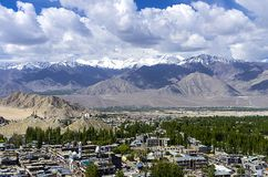 Leh - capital of Ladakh, India Stock Photo