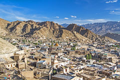 Leh, the capital of Ladakh, India Royalty Free Stock Photo