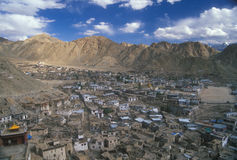 Leh - capitale di Ladakh Immagine Stock Libera da Diritti