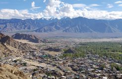 Leh city and beautiful landscape,HDR Stock Photos